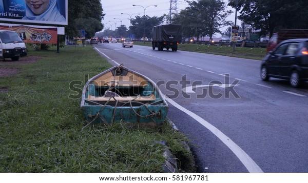Kuantan, Pahang - December 2, 2013. The aftermath from the worst flood that ever hit Kuantan, Pahang, Malaysia.
