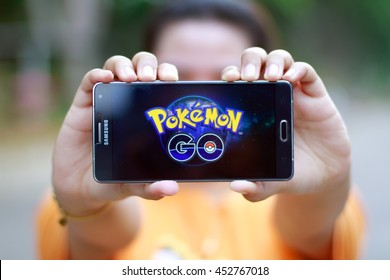 KUANTAN PAHANG, MALAYSIA - JULY 15TH, 2016 : Pokemon Go app, a free-to-play augmented reality mobile game developed by Niantic for iOS and Android devices.