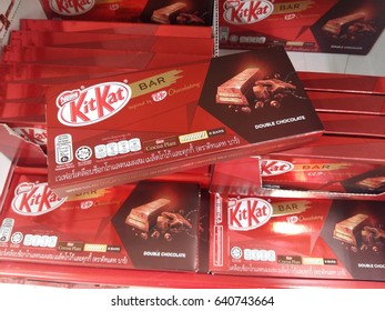 KUANTAN PAHANG MALAYSIA, MAY 15 2017. Kit Kat is a chocolate covered wafer bar created in 1911 by Rowntree's of York, England. Nestle which acquired Rowntree in 1988 now sells Kit Kat globally.