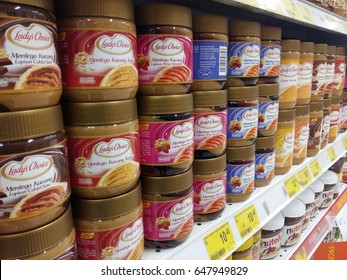 KUANTAN PAHANG MALAYSIA, MAY 15 2017. Lady's Choice peanut butter. Lady's Choice is a product by Unilever, a British-Dutch company and the world's largest producer of food spread.