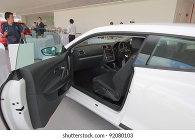 KUANTAN,MALAYSIA-JAN.4: Interior of Scirocco at the launching of Volkswagen Showroom on January 4th 2012 in Kuantan, Pahang, Malaysia. Official opening celebration on 7th and 8th January 2012.