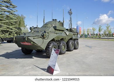 KUBINKA, MOSCOW OBLAST, RUSSIA - AUG 22, 2018: The unified command-staff vehicle R-149MA1 at the International military-technical forum Army-2018