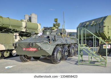 KUBINKA, MOSCOW OBLAST, RUSSIA - AUG 22, 2018: The BPDM 15TS56M Typhoon-M counter-sabotage combat vehicle at the International military-technical forum ARMY-2018