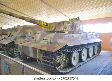 Kubinka Tank Museum is large military museum in Moscow Oblast, Russia 08/08/2015 exhibitions of tanks and armored vehicles.