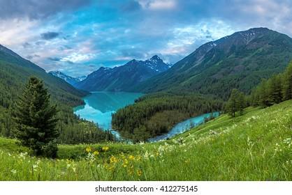 Kucherla lake cloudy morning, Altai