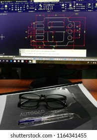 kuching malaysia 24 August 2018 : autocad drawing course on computer