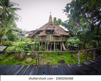 Kuching, Malaysia - Bidayuh house known as Barok used for cultural activity
