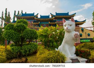 KUCHING, SARAWAK, BORNEO, MALAYSIA: White cat monument is the Kuching South City Council Cat Statue.  - Shutterstock ID 700209715