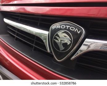 Kuching Sarawak Malaysia 7th Nov 2016. PROTON CarLogo on 7th November 2016 in Kuching Sarawak Malaysia. PROTON is the first car brand made in Malaysia.
