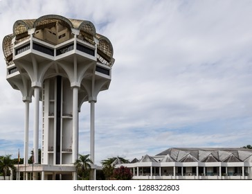 Kuching, Sarawak, Malaysia - July 16 2017: Kuching Civic Centre ( malay: Dewan Suarah Kuching), opened on 1 August 1988 following the proclamation of Kuching as a city status. civic cent