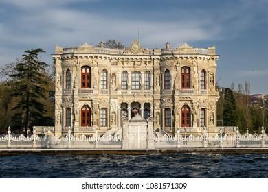 Kucuksu Palace in Beykoz, Istanbul City, Turkey