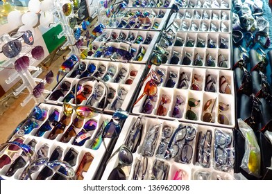 Kudat,Sabah-Feb 3,2018:Counterfeit of sunglasses for sales in the street of Kudat,Sabah.Its a like and is renowned for the sale of counterfeit goods at well below normal retail prices.