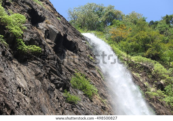 Kudlu Water Falls Near Agumbe,Udupi,Karnataka,India