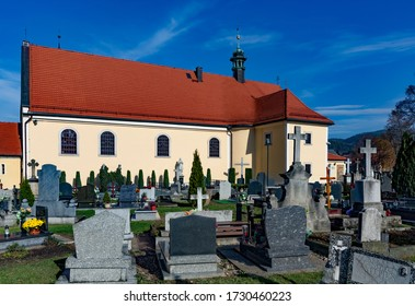 Kudowa-Zdroj, Poland - October 19, 2013: cemetery at Chapel of Skulls in Kudowa Zdroj.