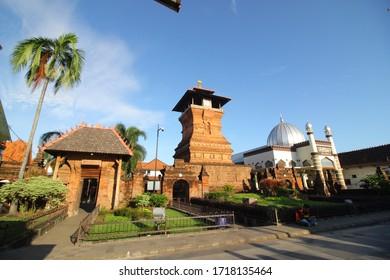 Kudus, Central Java, Indonesia -  Thursday April 2020 : Al Aqsa Mosque Tower Manarat Qudus, one of the inheritance of Walisongo in Indonesia