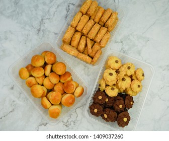Kue lebaran ,Assorted Indonesian specialty cookies for Idul Fitri