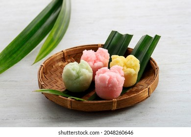 Kue Mangkok or Kue Apem, Indonesian Traditional Steamed Cupcake Jajanan Pasar