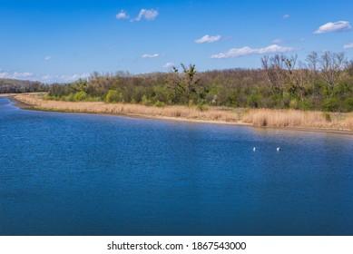 Kuehwoerther Wasser channel in Danube Auen Park near Vienna, Austria - Shutterstock ID 1867543000