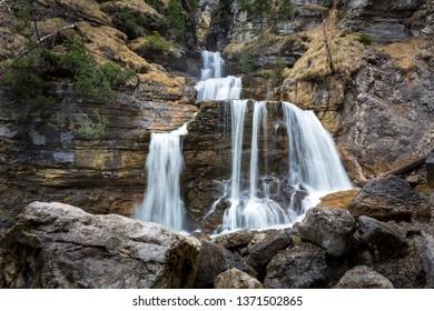 Kuhflucht Waterfalls near Farchant village, Upper Bavaria, Germany