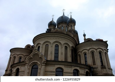 KUKOBOY, YAROSLAVL OBLAST / RUSSIA - SEPTEMBER 06 2017: The Church of the Savior of the Holy Face in the village of Kukoboy