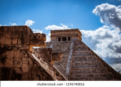 Kukulkan pyramid in Chichen Itza. This is one of the most important buildings in the ancient city. The Pre-Hispanic City of Chichen-Itza was declared a World Heritage site by UNESCO ref. 483