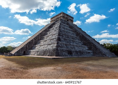 Kukulkan Temple in Chichen Itza Mexico