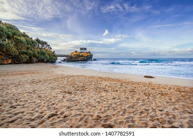 Kukup beach at southern area of Yogyakarta province, Indonesia