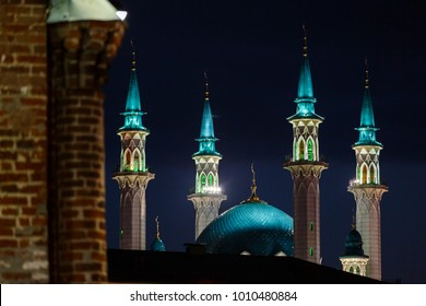 The Kul Sharif Mosque in the walls of the Kazan Kremlin. The mosques of Tatarstan