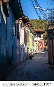 Kula street view in Manisa, Turkey. Kula is a town which has a lot of historical famous Turkish Homes