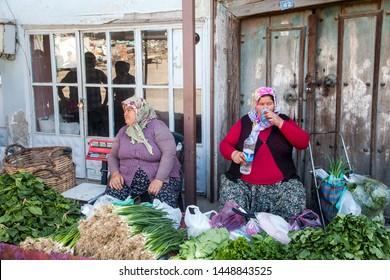 Kula,Manisa/Turkey - 04/18/2016 :Turkish farmers market