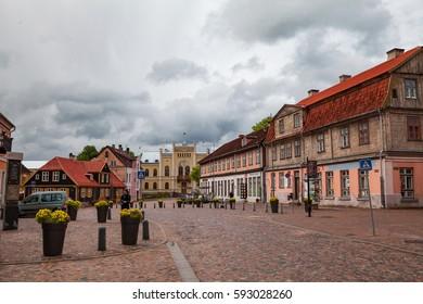 KULDIGA, LATVIA - 20 JUN 2016: Streets of old town.