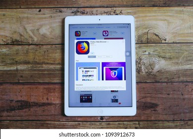 KULIM,MALAYSIA - MAY 19TH,2018 : Firefox web browser application on an ios Apple App Store.