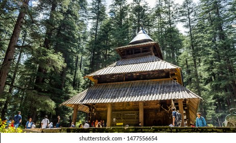 Kullu, Manali, Himachal Pradesh - Aug 11, 2019 - A view of Hidimba Devi Temple located in Manali