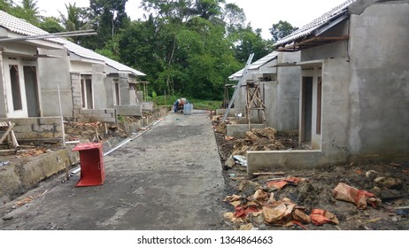 kulon progo,yogyakarta - January 22 2017 : housing construction (perumahan subsidi) located in Giripeni,Kulon Progo