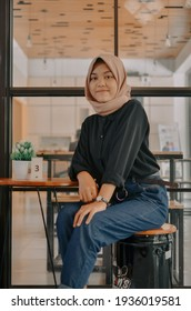 """Kulon Progo,Yogyakarta-March 15 2021 : """"Yearbook Photoshot"""" This yearbook photo was taken at Buron's Coffee And Kitchen. Apart from the yearbook they also showcase their ootd."""