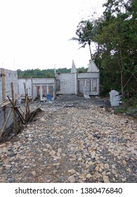 Kulon Progo,Yogyakarta-September 25 2016: housing construction in progress,located in Griya Persada Giripeni, Perumahan Subsidi a government program to help peoples build and owned new house