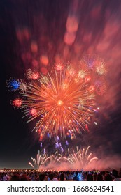 Kumagaya fireworks display festival in summer