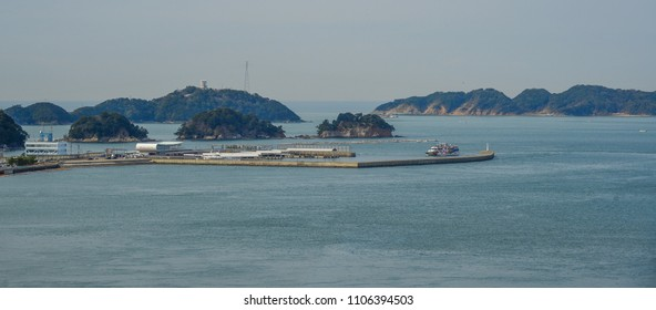 Kumano, Japan - Mar 18, 2018. Small islands on blue sea at summer day in Kumano, Japan.