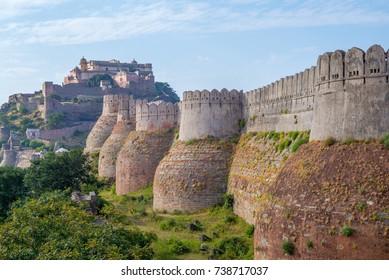 Kumbhalgarh fort in rajasthan, india