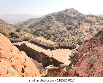 Kumbhalgarh, India - 4 February, 2018: Built by Rana Kumbha in 15th century, Kumbhalgarh fort is famous for its second largest wall after the Great Wall of China; witnessed a large number of wars.