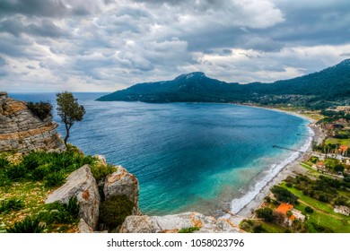 Kumlubuk Beach view from Amos Ancient City in Marmaris Town