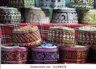 The Kumma is the typical Omani cap. Colorful and precious, it is used during unofficial times