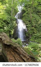 Kumoi falls of Oirase mountain stream in Aomori, Japan