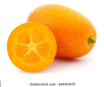 Kumquat fruit on a white background, isolated