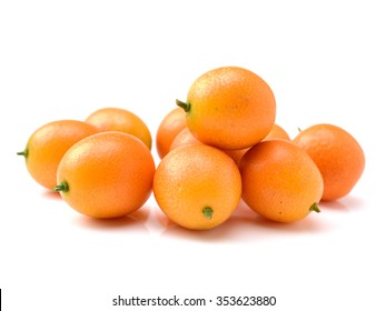 kumquat on white background