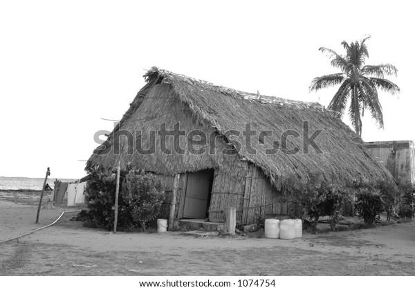 kuna indian home panama black & white