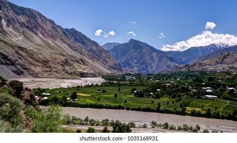Kunar aka Chitral or Kama river near Lowari pass, Khyber Pakhtunkhwa province, Pakistan