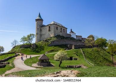 Kunetice Mountain Castle, State Castle Kuneticka hora, Raby, Czech republic. - Shutterstock ID 1648011964