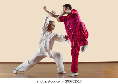 Kung Fu, Changquan, Duilian, Long Fist Style, Two men doing kung-fu moves