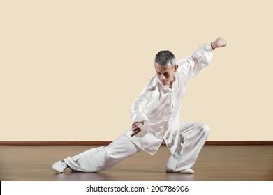 Kung Fu, Tanglangquan, Ludong Tuobu, Praying Mantis Style, Man practicing kung fu
